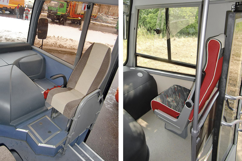 Автобусы МАЗ-241 и ПАЗ-320412.
